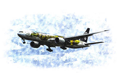 Personalized Name License Plates - Air New Zealand Hobbit Boeing 777 Art by David Pyatt