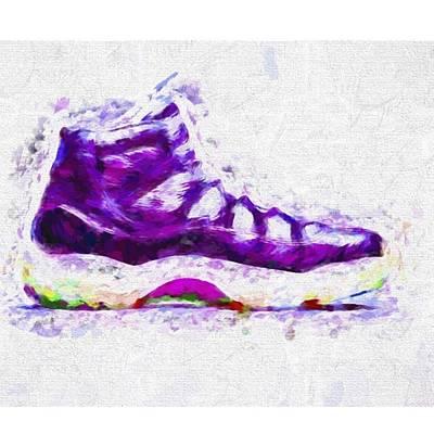 Basketball Photograph - #airjordans #shoes #kicks #art #fineart by David Haskett