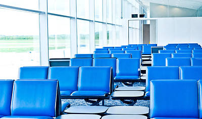 Terminal Photograph - Airport Waiting Lounge by Tom Gowanlock