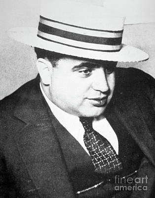 Boaters Photograph - Al Capone by American School
