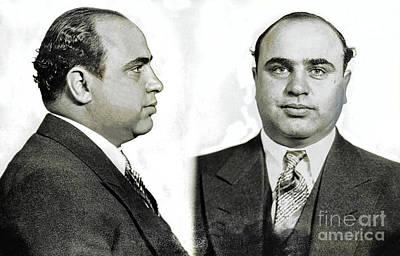 Al Capone Photograph - Al Capone Mugshot by Jon Neidert