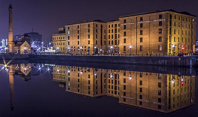 Animal Portraits Royalty Free Images - Albert Dock at Night Royalty-Free Image by Paul Madden
