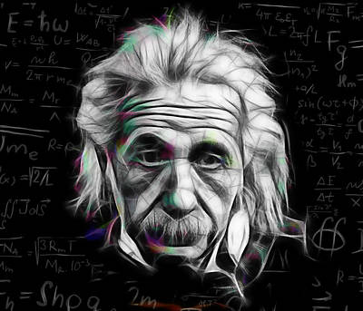 Albert Einstein Collection Art Print by Marvin Blaine