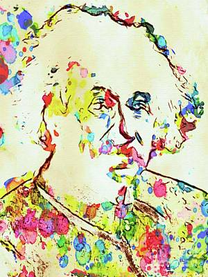 Painter Digital Art - Albert Einstein Famous Scientist by Mary Bassett