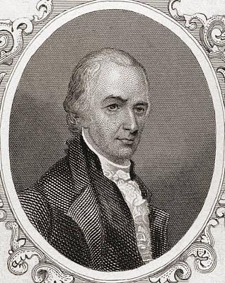 Head Shot Drawing - Alexander Hamilton by English School