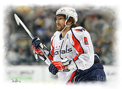 Digital Art - Alexander Ovechkin by Don Olea