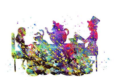 Alice In Wonderland Inspired Art Print by Erzebet S