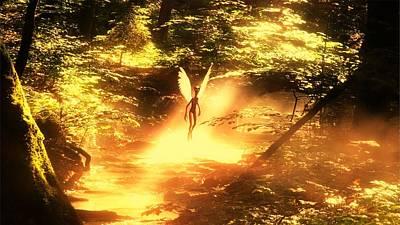 Paranormal Digital Art - Alien Angel By Raphael Terra by Raphael Terra