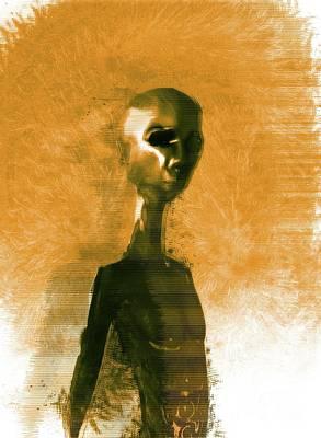 Science Fiction Digital Art - Alien Portrait by Raphael Terra