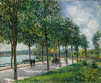 Allee Of Chestnut Trees Art Print by Alfred Sisley