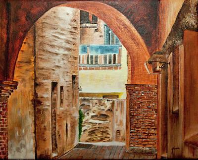 San Juan Capistrano Painting - Alley At The Mission San Juan Capistrano by Gina Cordova