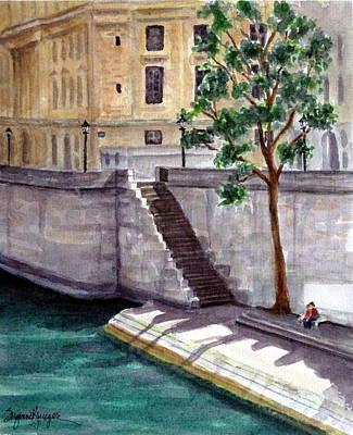 Along The Seine Art Print