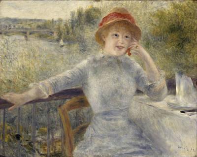 Painting - Alphonsine Fournaise by Auguste Renoir