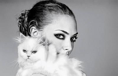 Cats Digital Art - Amanda Seyfried by Super Lovely