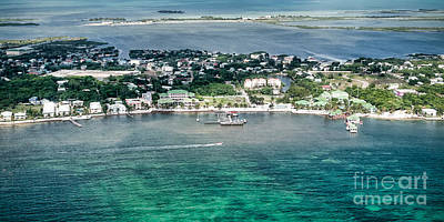 Photograph - Ambergris Caye Aerial View by Lawrence Burry
