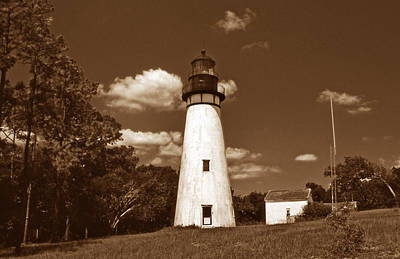 Amelia Island Photograph - Amelia Island Lighthouse Fl by Skip Willits