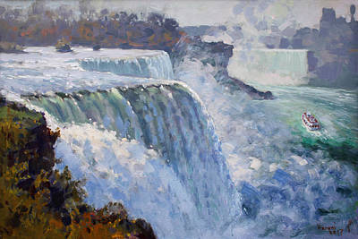 Niagara Falls Wall Art - Painting - American Falls by Ylli Haruni