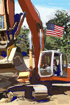 Pipe Painting - American Tractor by Brad Burns
