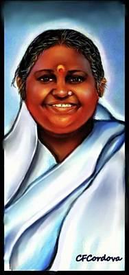 Spiritual Amma -the Hugging Saint Art Print