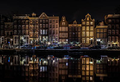 Skyline Digital Art - Amsterdam by Super Lovely