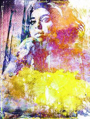 Mixed Media - Amy Winehouse by Svelby Art