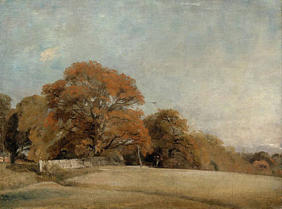 Romanticism Painting - An Autumnal Landscape At East Bergholt by John Constable