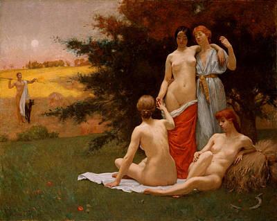 Kenyon Painting - An Eclogue by Kenyon Cox
