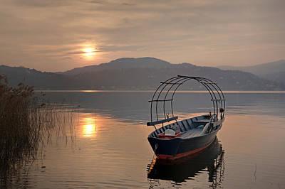 Lago Maggiore Photograph - an evening at the Lake Maggiore by Joana Kruse