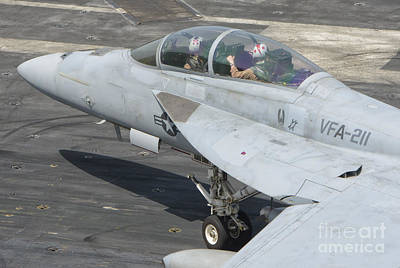 Firefighter Patents Royalty Free Images - An Fa-18f Super Hornet On The Flight Royalty-Free Image by Giovanni Colla