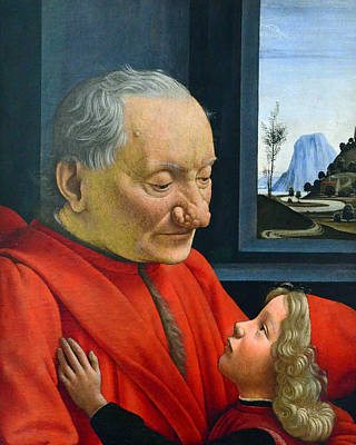 Painting - An Old Man And His Grandson by Domenico Ghirlandaio