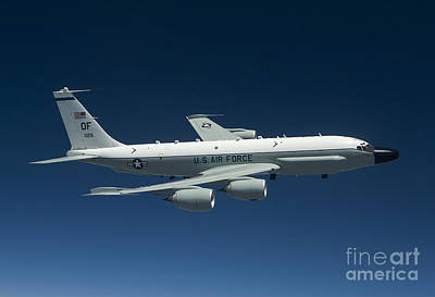 Photograph - An Rc-135w Rivet Joint Aircraft Flies by HIGH-G Productions