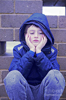 Hoodies Photograph - An Upset Child by Tom Gowanlock