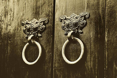 Photograph - Ancient Door Knockers Of China by Pixabay