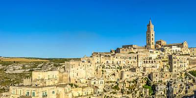 Basilicata Photograph - Ancient Town Of Matera At Sunset, Basilicata, Italy by JR Photography