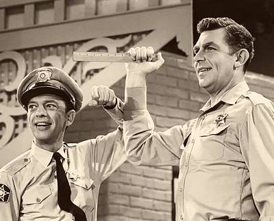 Don Knotts Photograph - Andy Griffith And Don Knotts 1970 by Mountain Dreams