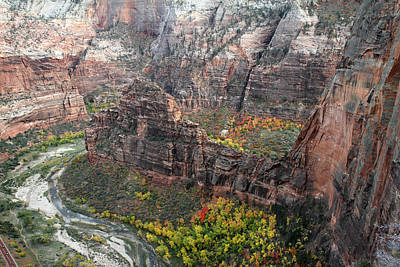 Angels Landing In Zion Art Print by Pierre Leclerc Photography