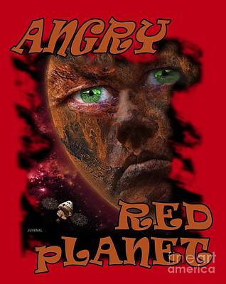Digital Art - Angry Red Planet by Joseph Juvenal