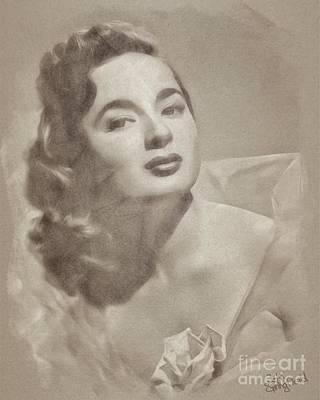Musicians Drawings Rights Managed Images - Ann Blyth, Vintage Actress Royalty-Free Image by Esoterica Art Agency