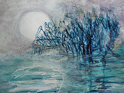 another  Moon river Art Print by Mary Sonya  Conti