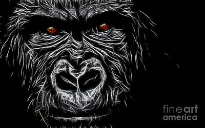 Ape Mixed Media - Ape Collection by Marvin Blaine