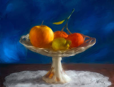 Art Print featuring the photograph Apple, Lemon And Mandarins. Valencia. Spain by Juan Carlos Ferro Duque