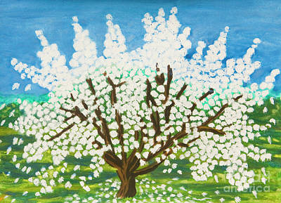 Painting - Apple Tree In Blossom by Irina Afonskaya