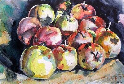 Painting - Apples by Kovacs Anna Brigitta