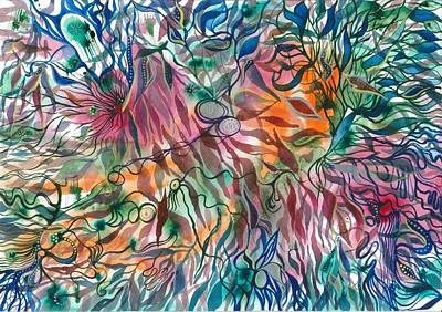 Janis Drawing - Latvia Midsummer  by Inita  Blumberga