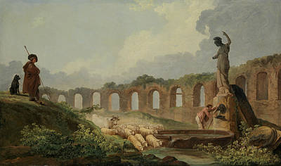 Painting - Aqueduct In Ruins by Hubert Robert