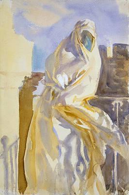 Drawing - Arab Woman by John Singer Sargent