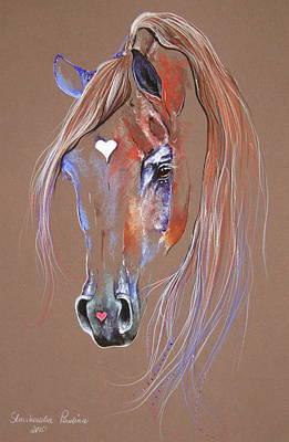 Arabian Horse Art Print by Paulina Stasikowska