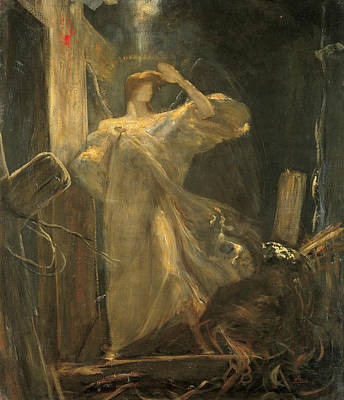Greek School Of Art Painting - Archangel, Study For The Foundation Of The Faith by Nikolaos Gyzis