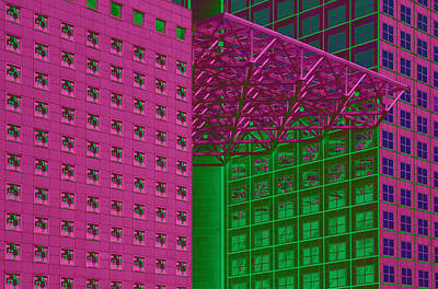 Built Structure Painting - Architectural Abstract by Craig McCausland