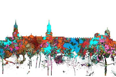 Digital Art - Arequipa  Peru Skyline  by Marlene Watson